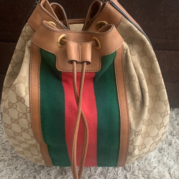 803eb9cf76d4 Gucci Bags | Authentic Rania Canvas With Bamboo Tassels | Poshmark